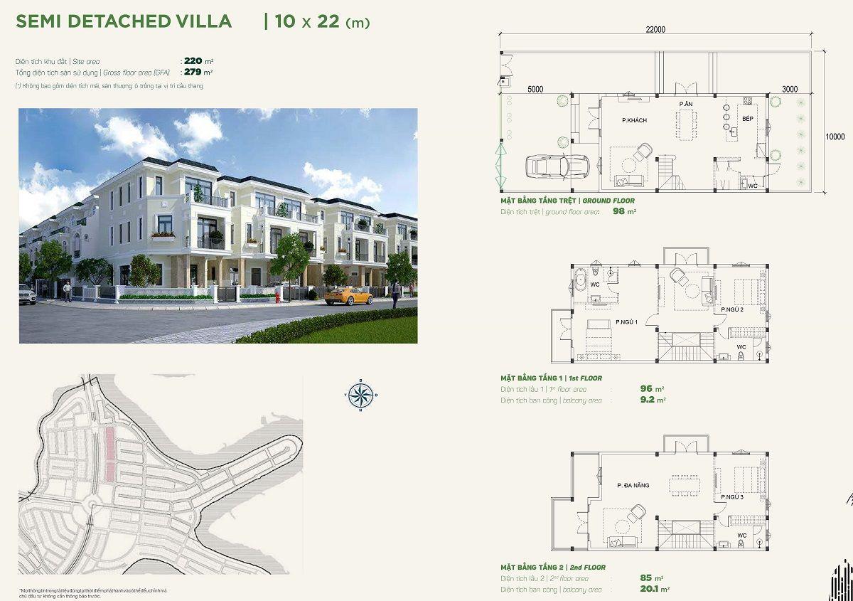 Thiết kế biệt thự 10x22Stella Aqua City