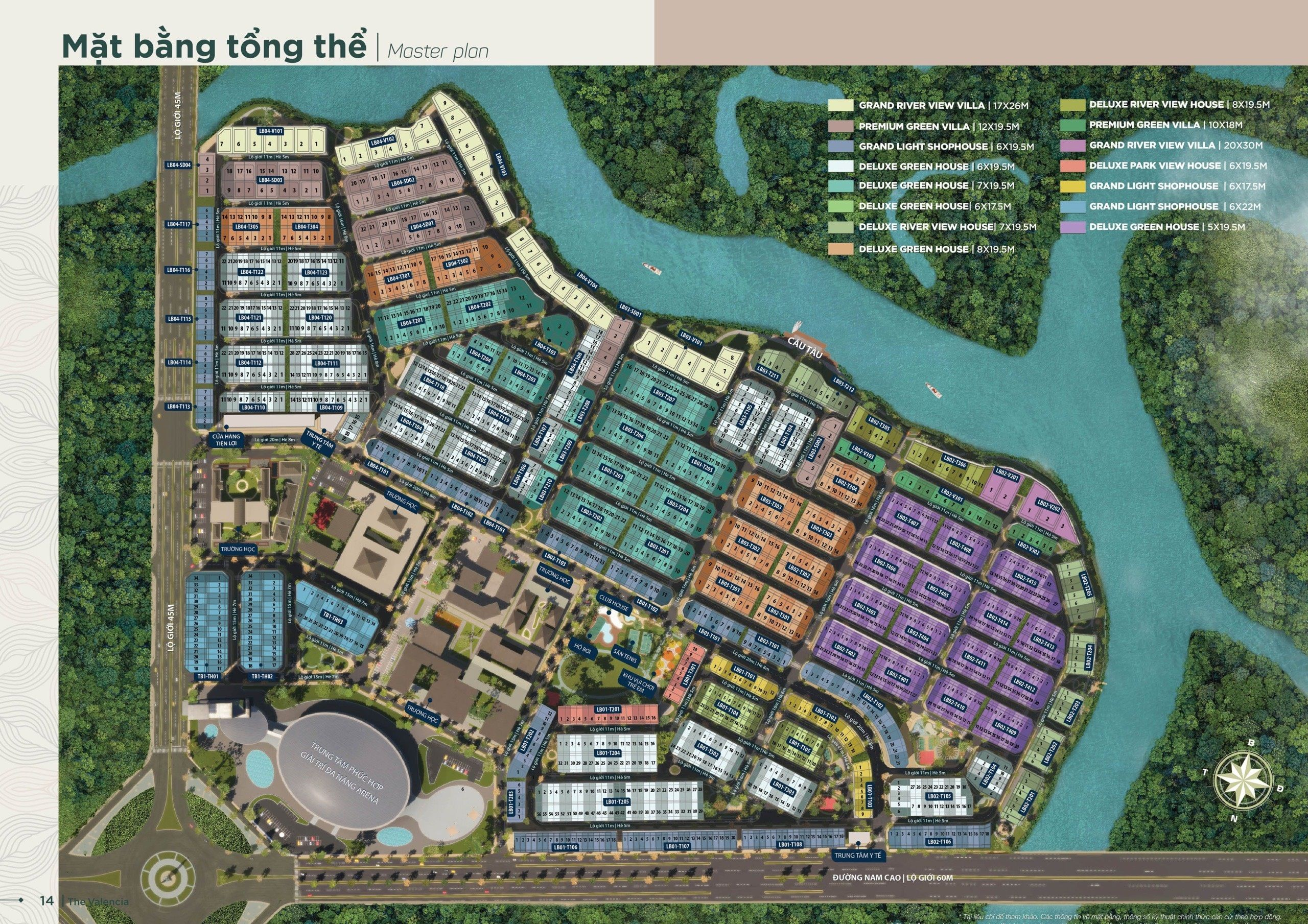 Mặt bằng chi tiết phân khu Valencia dự án Aqua City